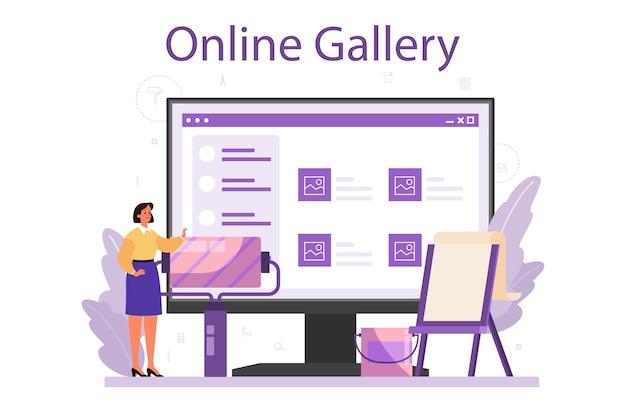 Professional interior designer online service or platform set