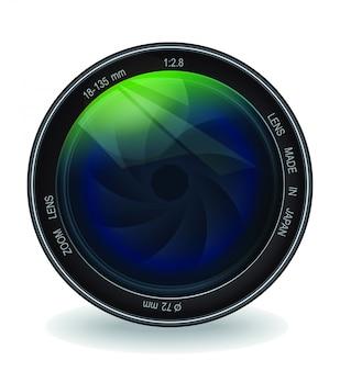 Professional lens vector