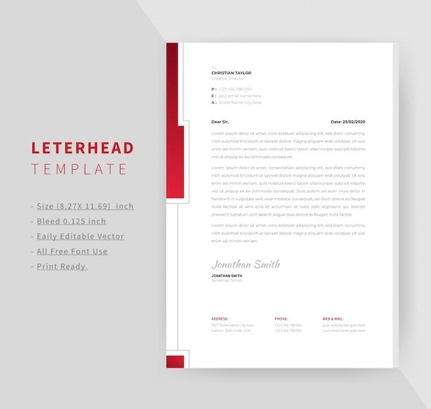 Professional letterhead template design