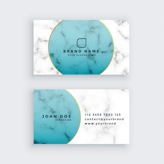 Professional marble business card design