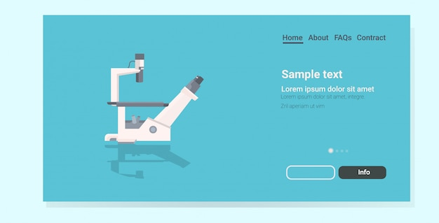 Professional medical laboratory landing page