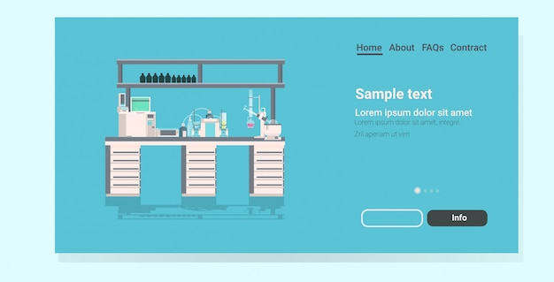 Professional medical laboratory landing page