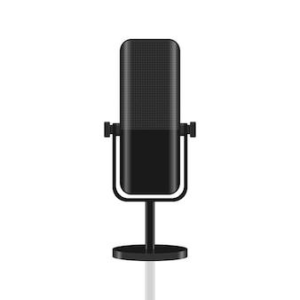 Professional microphone icon concept illustration