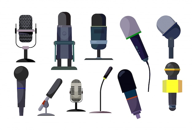Professional microphones set