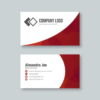 Professional and modern business card in red