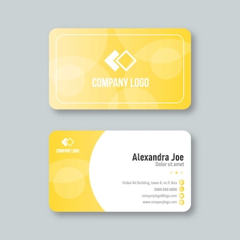 Professional and modern business card