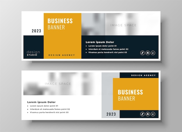 Professional modern business facebook cover template design
