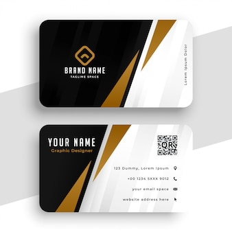 Professional modern business identity card template