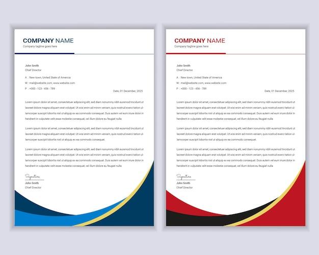 Professional modern business letterhead template design set.