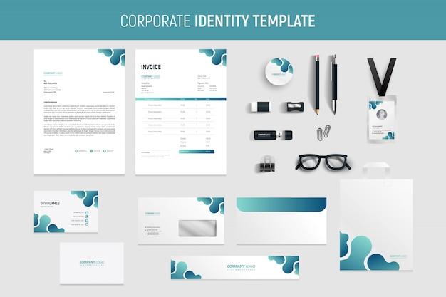 Professional modern business stationery set