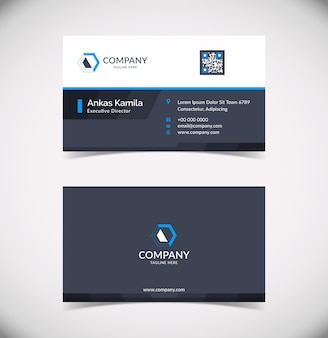 Professional and modern corporate business card template