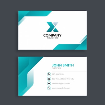 Professional modern corporate business card