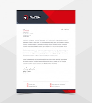 Professional and modern corporate letterhead template