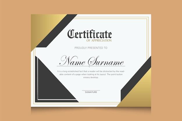 Professional modern elegant certificate template