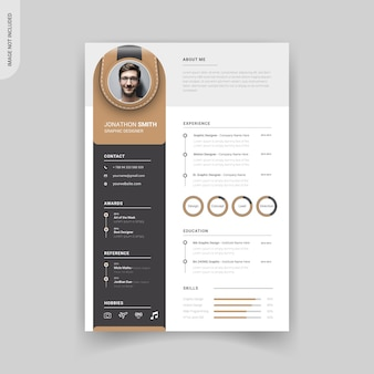 Professional modern resume template design