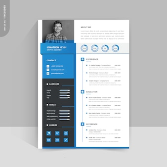Professional modern resume template design