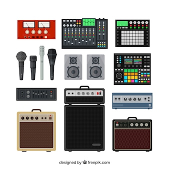 Professional music studio equipment