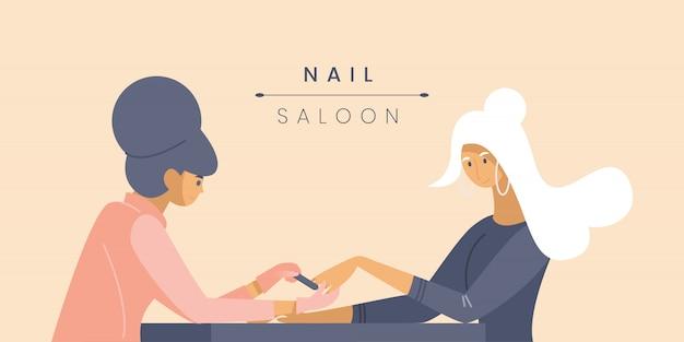 Professional nail studio banner  template.