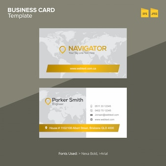 Professional Navigation Business Card Template