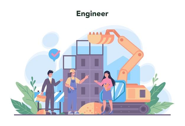 Профессиональная деятельность по проектированию и изготовлению машин и конструкций. Premium векторы