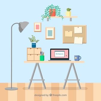 Профессиональный офисный стол с симпатичным стилем