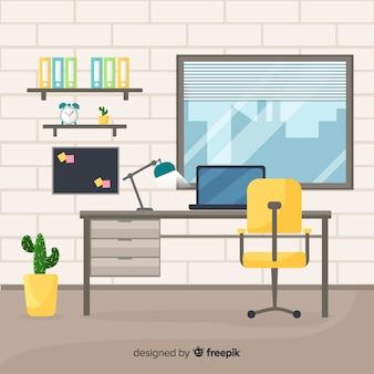 평면 디자인의 전문적인 사무실 인테리어