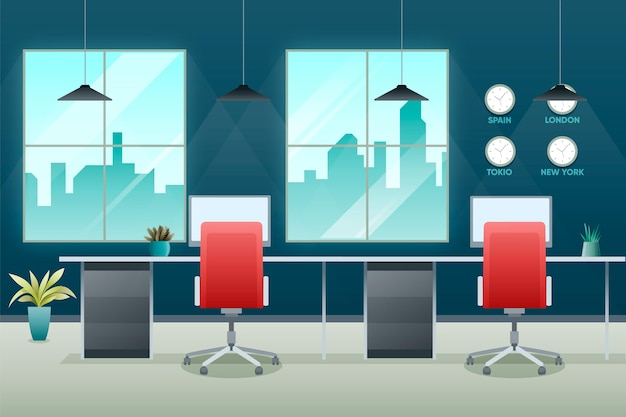 Professional office video conferencing background