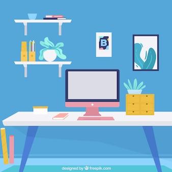 Профессиональный офис с прекрасными элементами