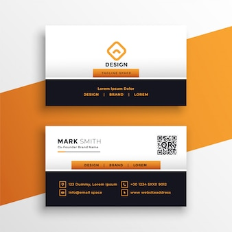 Professional orange business card design