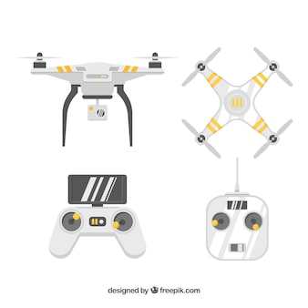Professional pack of modern drones