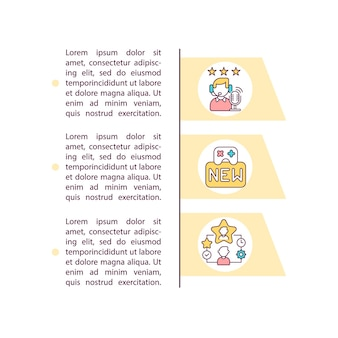 Professional personnel concept icon with text illustration