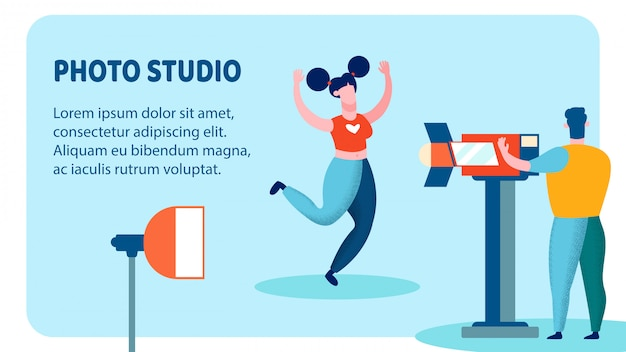 Professional photo studio banner vector template