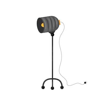 Профессиональное световое оборудование для фотостудии и набор векторных иллюстраций камеры