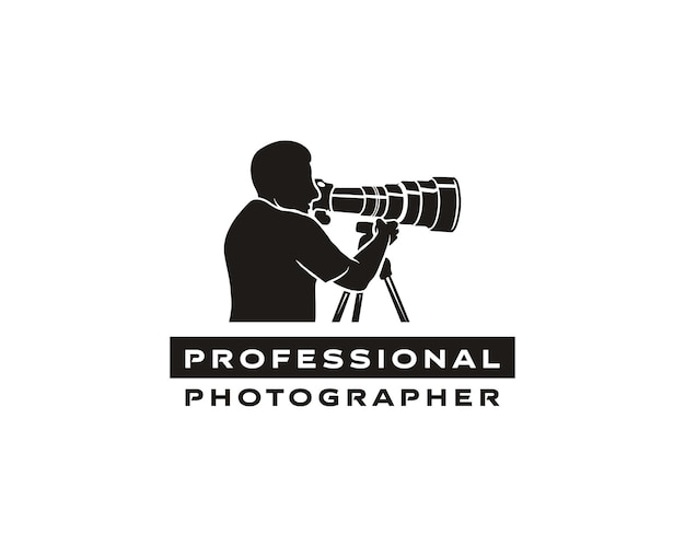 전문 사진 작가 로고 창의적인 사진 사진 작가 또는 콘텐츠 제작자를 위한 로고 디자인