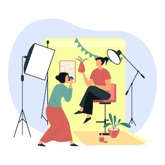 여자 초상화의 전문 사진 촬영