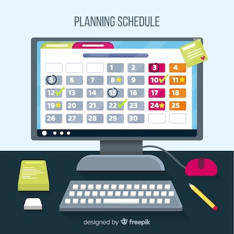 Professional planning schedule concept