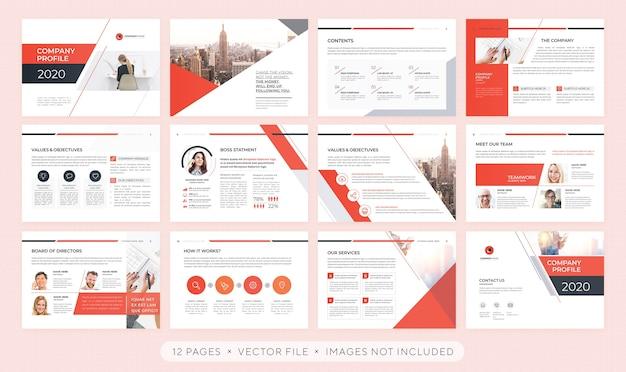 Professional presentation or corporate brochure template