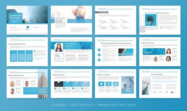 Шаблон профессиональной презентации или корпоративной брошюры