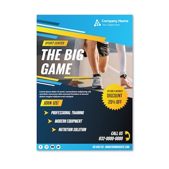 Professional racing sport flyer template