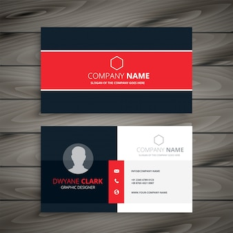 Professional red business card template