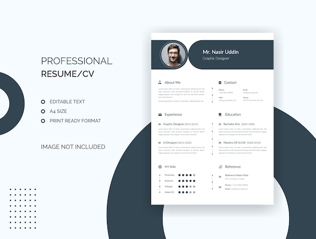 Professional resume, cv template