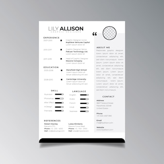 Professional resume design template minimalist. business layout vector for job applications template.