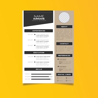 Professional resume template minimalist style.