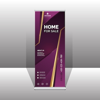 Professional roll-up banner