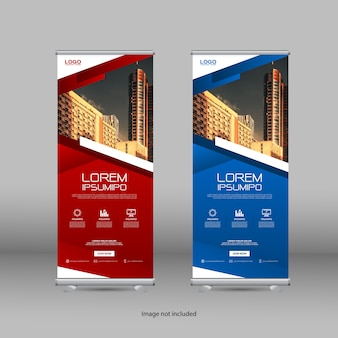 Professional roll up stand banner template