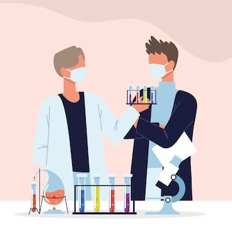 Professional scientists laboratory