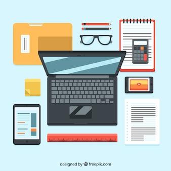 Set professionale di elementi aziendali