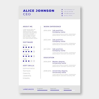 Alice semplice professionale j. modello di curriculum amministratore delegato