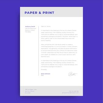 전문적인 간단한 공식 커버 일반 편지