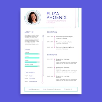 Professional simple technology resume